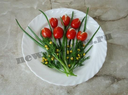 салат букет тюльпанов 7
