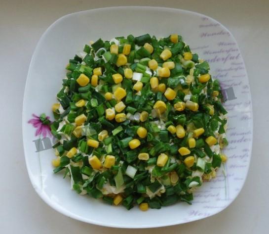 салат весенняя поляна