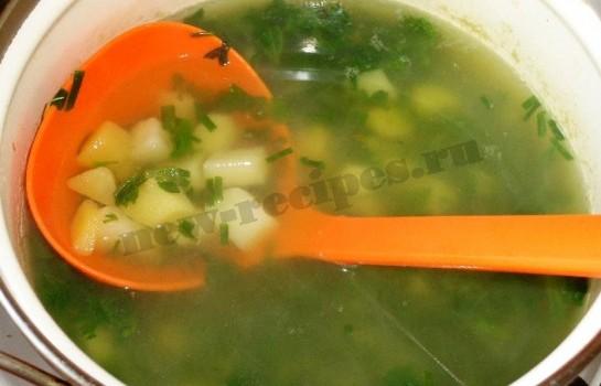 весенний зеленый суп из крапивы 7