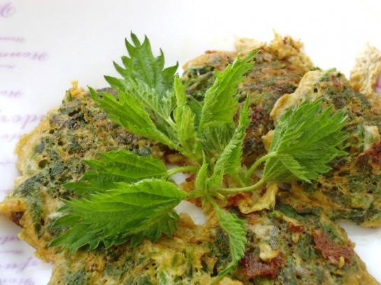 весенний рецепт оладьи из крапивы