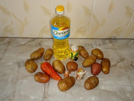 жареный картофель с чесноком 1