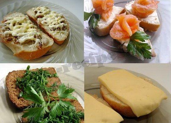 какие можно приготовить бутерброды