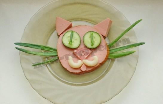 оригинальные детские рецепты с фото прикольный кот