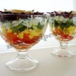 Салат Радуга рецепт с фото