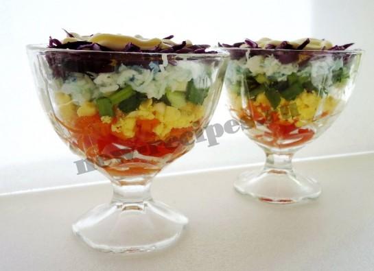 салат радуга фото рецепт