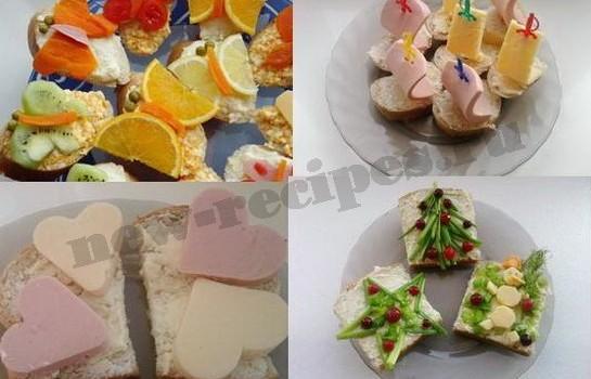 самые вкусные и красивые бутерброды, бутерброды для детей фото