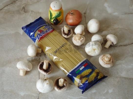 спагетти с грибами 1
