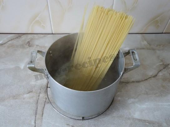 спагетти с грибами 3
