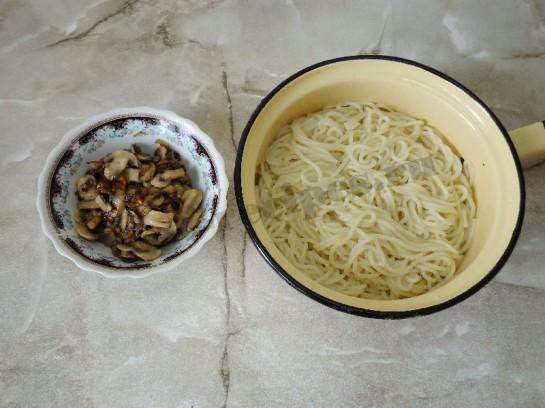 спагетти с грибами 7