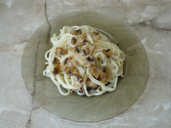 спагетти с грибами 8