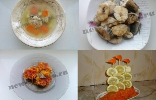 блюда из рыбы хек с фото