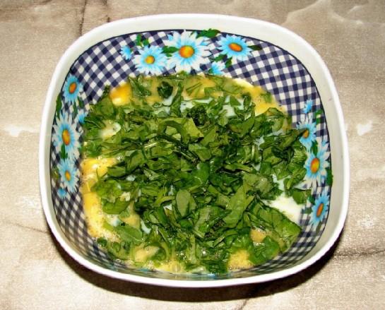 омлет со шпинатом 5