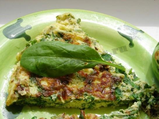 омлет со шпинатом