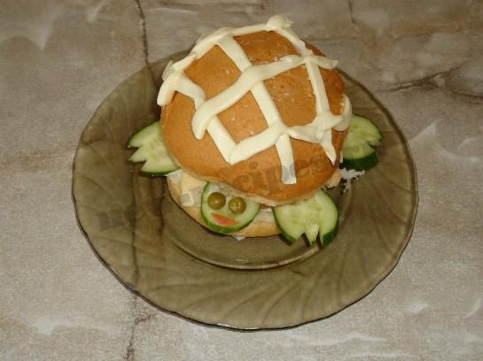 оригинальные бутерброды для детей черепаха