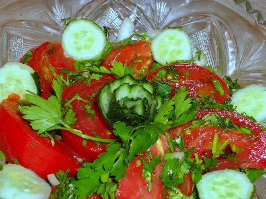 салат огурцы помидоры фото