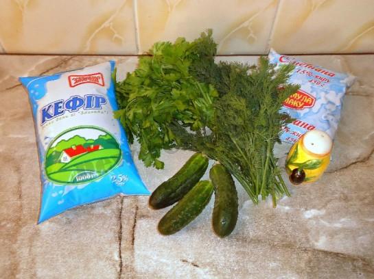 ингредиенты для таратора на кефире