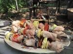 шашлык из курицы с овощами фото 1