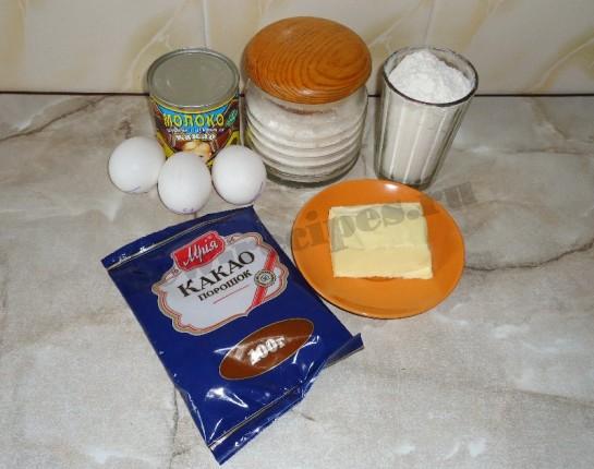 шоколадный бисквитный рулет с кремом 1
