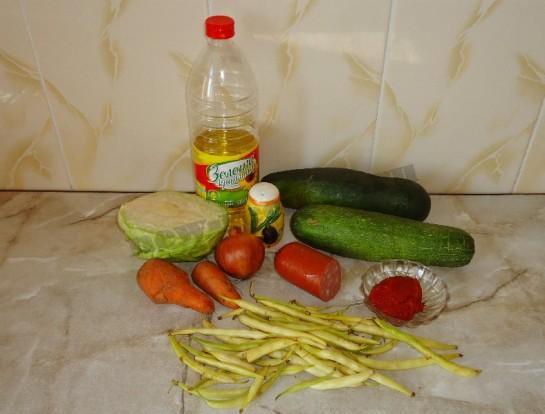 вкусное рагу с колбасой 1