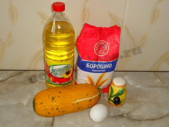 ингредиенты для кабачков в яйце