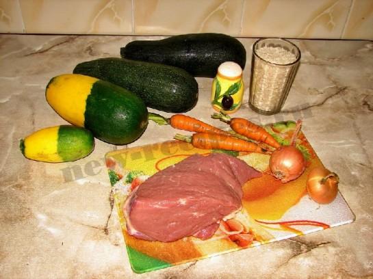 ингредиенты для фаршированных кабачков