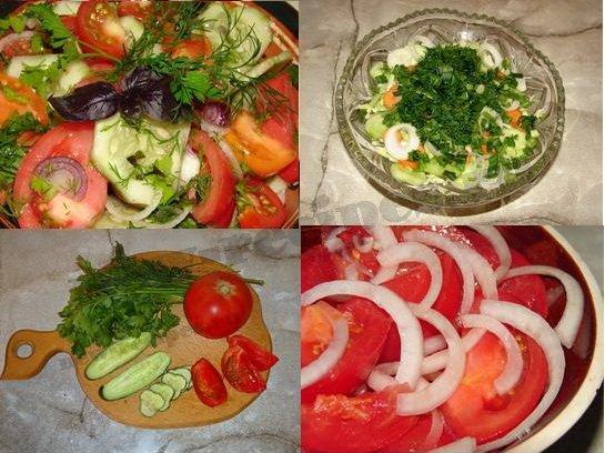 летние салаты фото рецепты