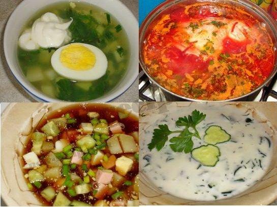летние супы фото рецепты