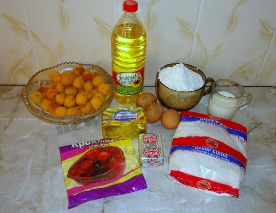 пирог с абрикосами фото 1