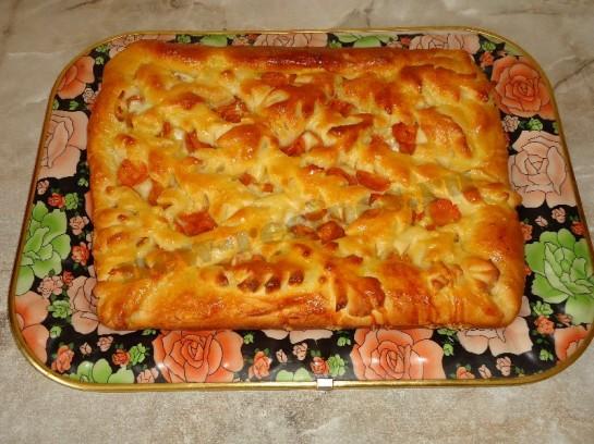 пирог с абрикосами 7