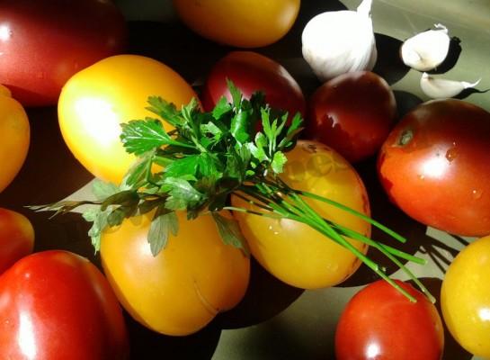 помидоры с чесноком рецепт (2)
