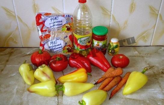 перец фаршированный рисом и овощами 1