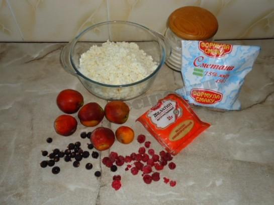 творожный десерт с фруктами фото 1