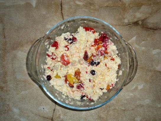 творожный десерт с фруктами фото 5