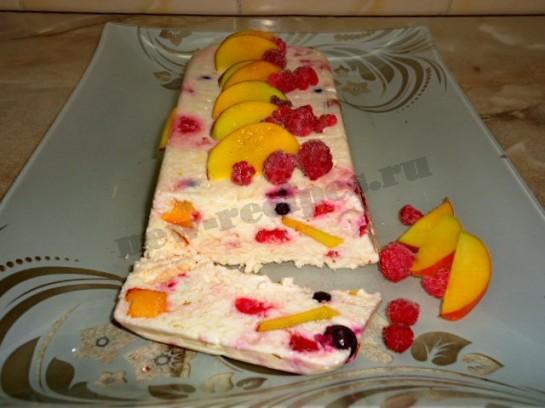 творожный десерт с фруктами фото 8