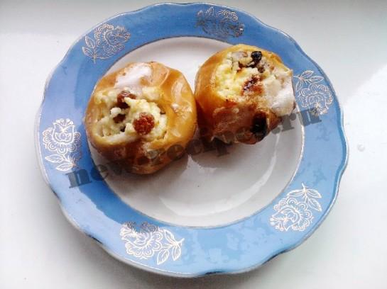 рецепт печёных яблок с творожной начинкой