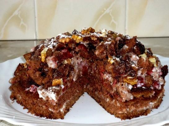 торт вишнёвая горка 16