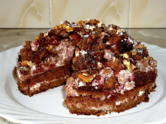 Вишневая горка торт рецепт