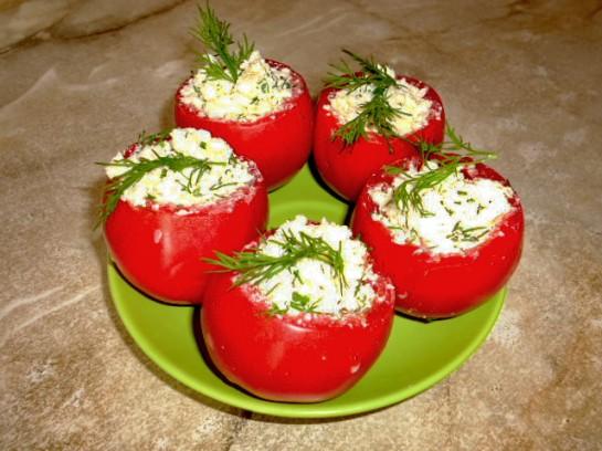 фаршированные помидоры гнёзда