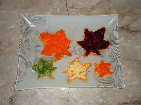 рецепт салата кленовые листья
