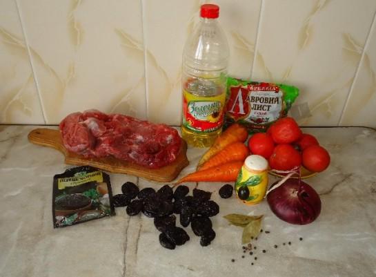 мясо с черносливом рецепт с фото 1