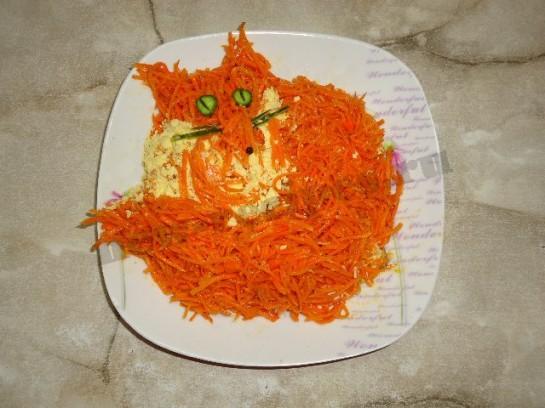 Салат лисья шубка с курицей рецепт с
