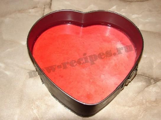 желейный десерт со сметаной и фруктами в виде сердца 9