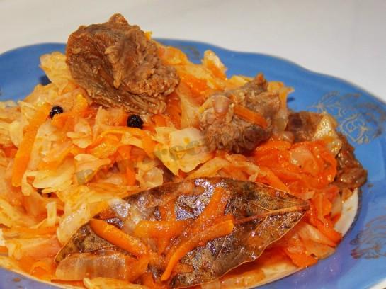 рецепт вкусной тушеной капусты с мясом