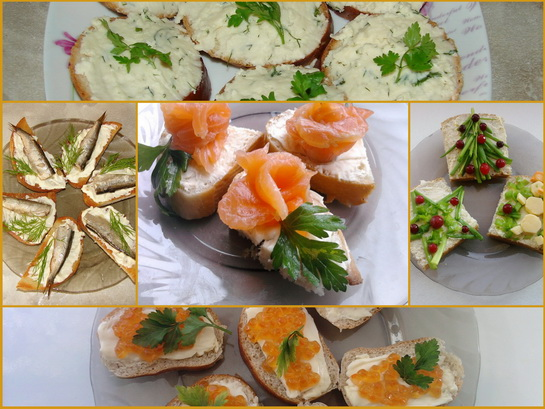 новогодние бутерброды фото