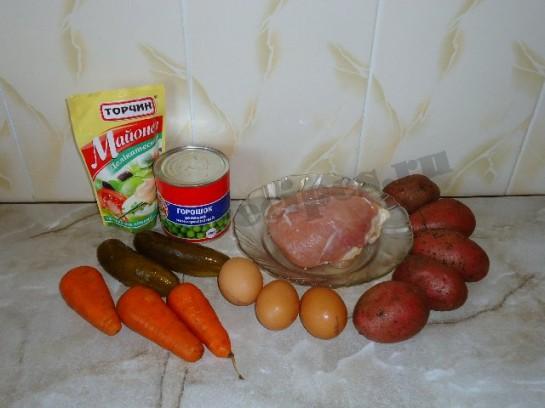 салат оливье с курицей фото 1