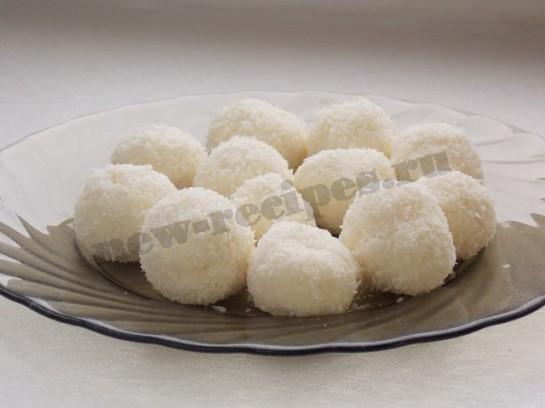 домашнее рафаэлло - десерт снежки из творога 2