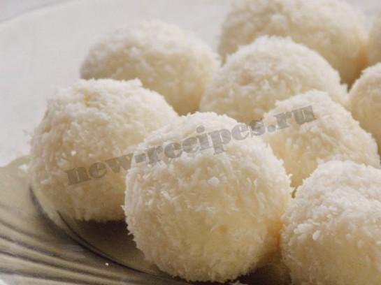 домашнее рафаэлло - десерт снежки из творога 3