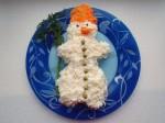 новогодний салат снеговик фото