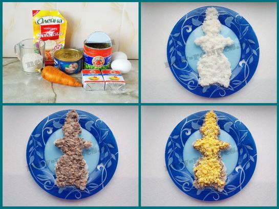 новогодний салат снеговик фото 1