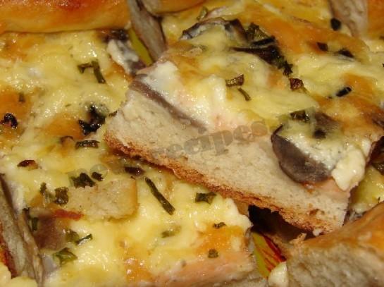 пицца с грибами и сыром фото